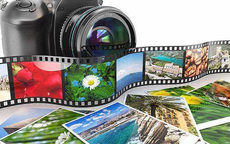 Výroba velké profesionální fotografie vašich vzpomínek různých rozměrů