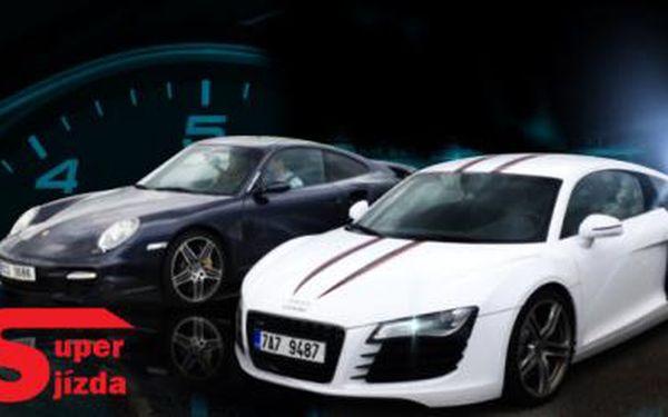 Jízda Vašich snů! Ve Ferrari F430, Porsche 911 Turbo, Lamborghini, Audi R8, Nissan GT-R či Ferrari 458 Spider!