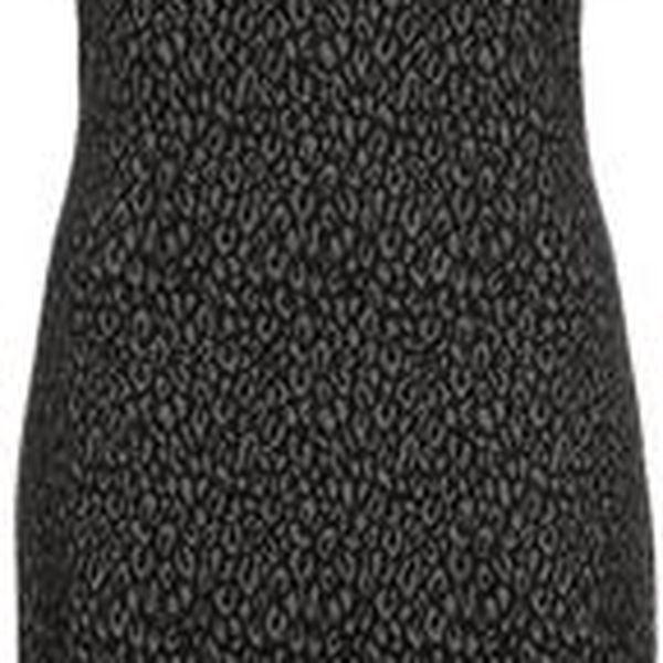 Dámské elegantní šaty, šedá/černá/červená