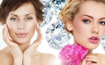 75min. KOMPLETNÍ OŠETŘENÍ PLETI! Diamantová dermobraze, masáž, maska, barvení obočí a řas a další!