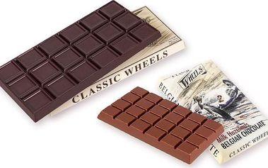 Balíček dvou belgických čokolád – mléčná a hořká