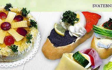 14 velkých obložených chlebíčků či aspikové dorty