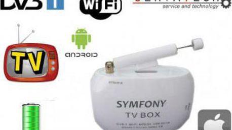 TV BOX DVB-T televizní přijímač s Wi- Fi pro Android, Apple iOS