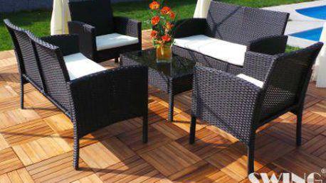 Polyratanový nábytek se stane ozdobou vaší terasy či zahrady