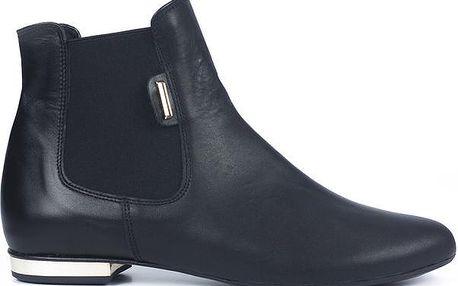 Dámské černé kožené chelsea boty Joana and Paola