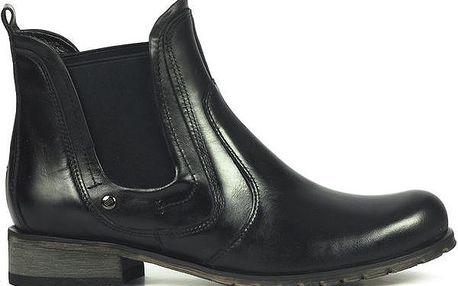 Dámské černé kotníkové boty s elastickou vsadkou Joana and Paola
