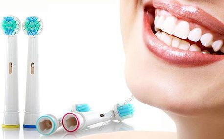 4 univerzální hlavice na kartáčky Oral-B, poštovné zdarma