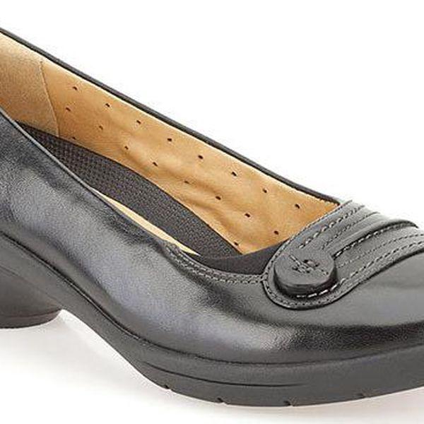 Dámské černé boty s knoflíčkem Clarks
