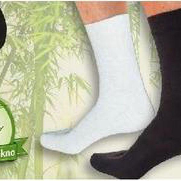 9 párů klasických ponožek včetně POŠTOVNÉHO z bambusového vlákna. Pánské, dámské, černé nebo bílé.