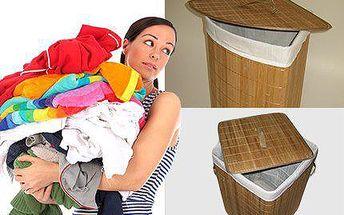 Bambusový prádelní koš - rohový nebo čtvercový. Doprava ZDARMA!