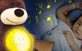Medvídek: projektor s ukolébavkou. Sladké usínání pro vaše nejmenší.