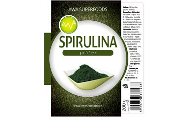 Spirulina prášek 200g AWA superfoods