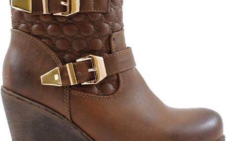 BLESS Kotníkové boty na klínku 1550BR