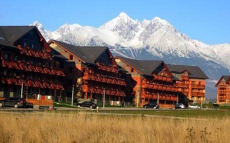 Pobyt ve Vysokých Tatrách s luxusním ubytováním pro 2 osoby a dítě do 6 let.