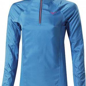 Dámská běžecká bunda - Mizuno Breath Thermo WindTop W CaribbeanSea S