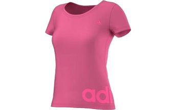 Dámské sportovní tričko ESSENTIALS LINEAR TEE růžová