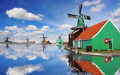 Krásy Holandska - Amsterdam, rybářská vesnička Volendam a větrné mlýny