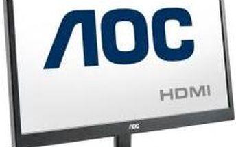 """Monitor AOC v nadčasově klasickém černém designu E2470SWHE 23,6""""wide/1920x1080/5ms/20mil:1/2xHDMI/LED"""