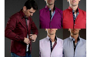 Pánská bavlněná slim fit značky LORAM v 5 barvách.