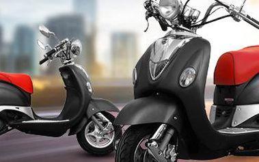 Benzínový retro skútr GS Prime s nízkou spotřebou! Další bonusy v ceně.
