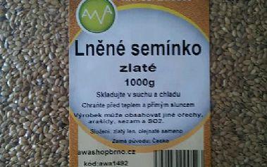 Lněné semínko zlaté 1000g
