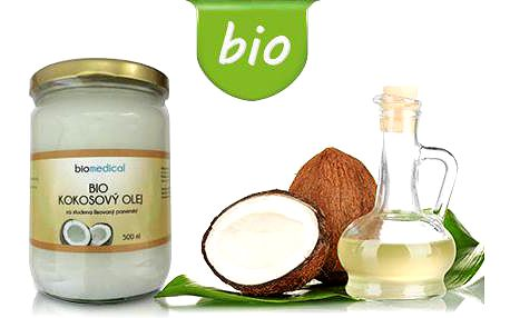BIO kokosový olej na vaření i kosmetiku: 500ml