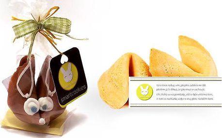 Velikonoční balíček sušenek smartcookies ve tvaru zajíčka s básničkou