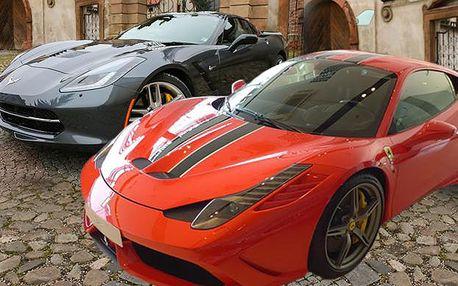 Zážitková jízda ve Ferrari, Lamborghini, Porsche nebo v Chevrolet Corvette