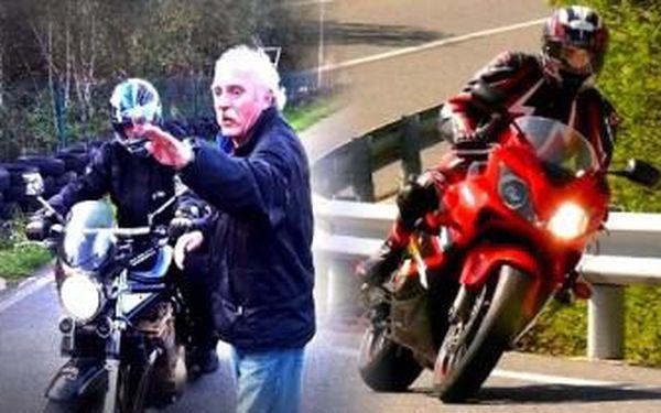Kurz BEZPEČNÉ JÍZDY na motocyklu pro začínající i pokročilé motorkáře.