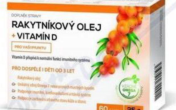 Rakytníkový olej + vitamín D 60 kapslí