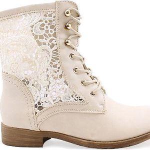 Béžové kotníkové boty 67522BE Velikost: 39