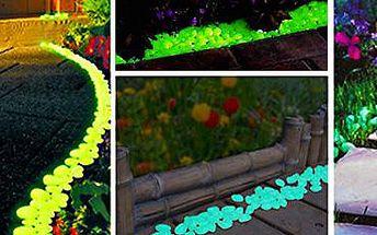 Svítící barevné oblázky: skvělá dekorace do domu i na zahradu!