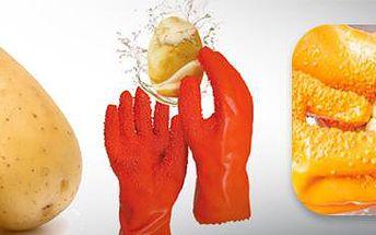 Speciální rukavice na loupání brambor a zeleniny: Usnadní práci v kuchyni!