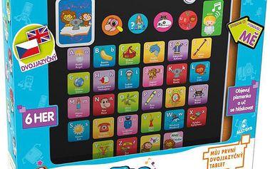 ALLTOYS Dětský tablet dvojjazyčný (česko-anglický) - 6 her