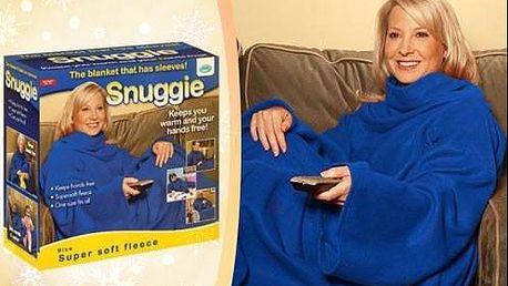 Deka Snuggie s rukávmi a z príjemného fleecu s poštovným.
