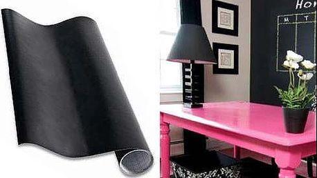 Samolepící vinylová tabule s křídami, praktická i dekorační. Rozměr 60x200cm. Poštovné v ceně.