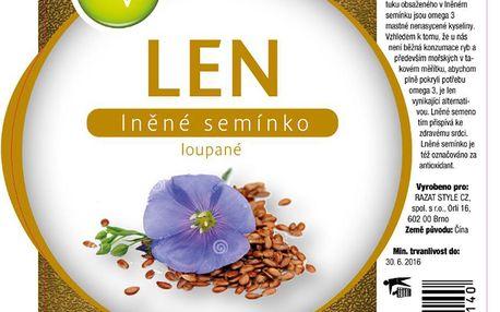 Lněné semínko loupané 1000g AWA superfoods