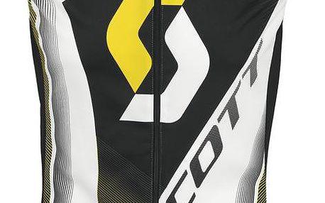 Pánská vesta na kolo RC Pro white/yellow rc, bílá, XL