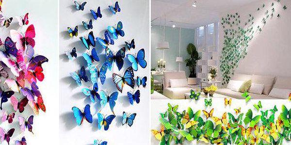 3D motýlci - dekorativní samolepky i magnetky