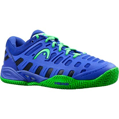 Špičková tenisová obuv Head Speed Pro II se speciální antukovou podešví Herring. Blue/Lt. Green
