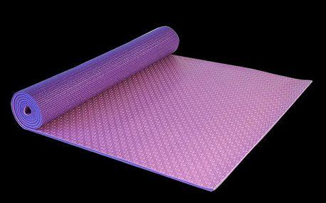 Dvouvrstvá podložka na Yogu a další cvičení s protiskluzovým povrchem včetně textilního obalu - tašky s uchem Yate Yoga Mat dvouvrstvá fialová