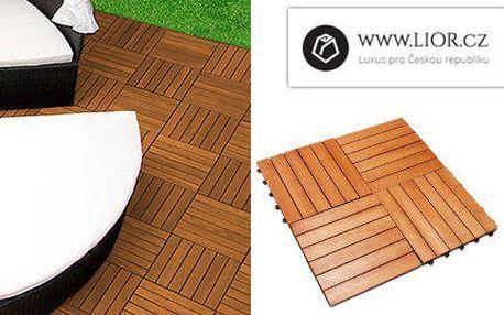 Dřevěné dlaždice PLUG-IN z eukalyptového dřeva