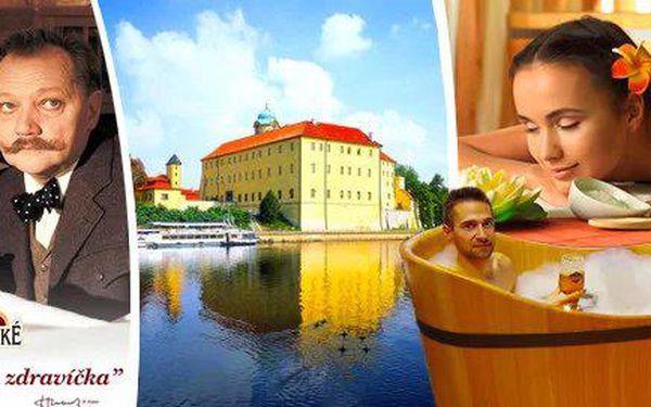 Rozmazlovaní ve stylu Postřižin v lázeňských Poděbradech s pivní nebo čokoládovou koupelí vč. masáže