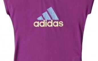 Dívčí sportovní tričko YG W B LOGO TEE fialová