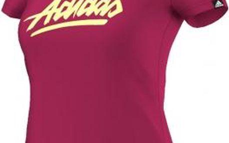 Dámské tričko ADI SCRIPT červená