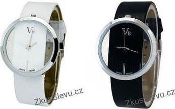 Dámské hodinky V8 v černé nebo bílé barvě
