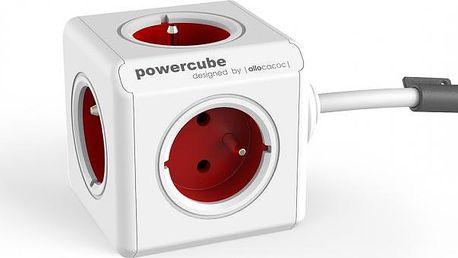 Zásuvka PowerCube prodlužovací přívod 1,5m - 5ti zásuvka, 3680W, červenáZásuvka PowerCube prodlužovací přívod 1,5m - 5ti zásuvka, 3680W, červená