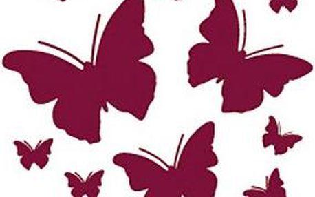 Samolepicí dekorace motýl štěstí