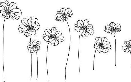 Samolepicí dekorace květy