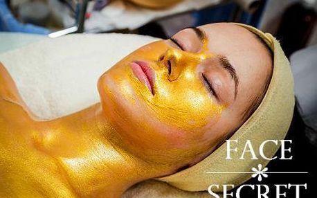 90minutové luxusní kosmetické ošetření zlatem